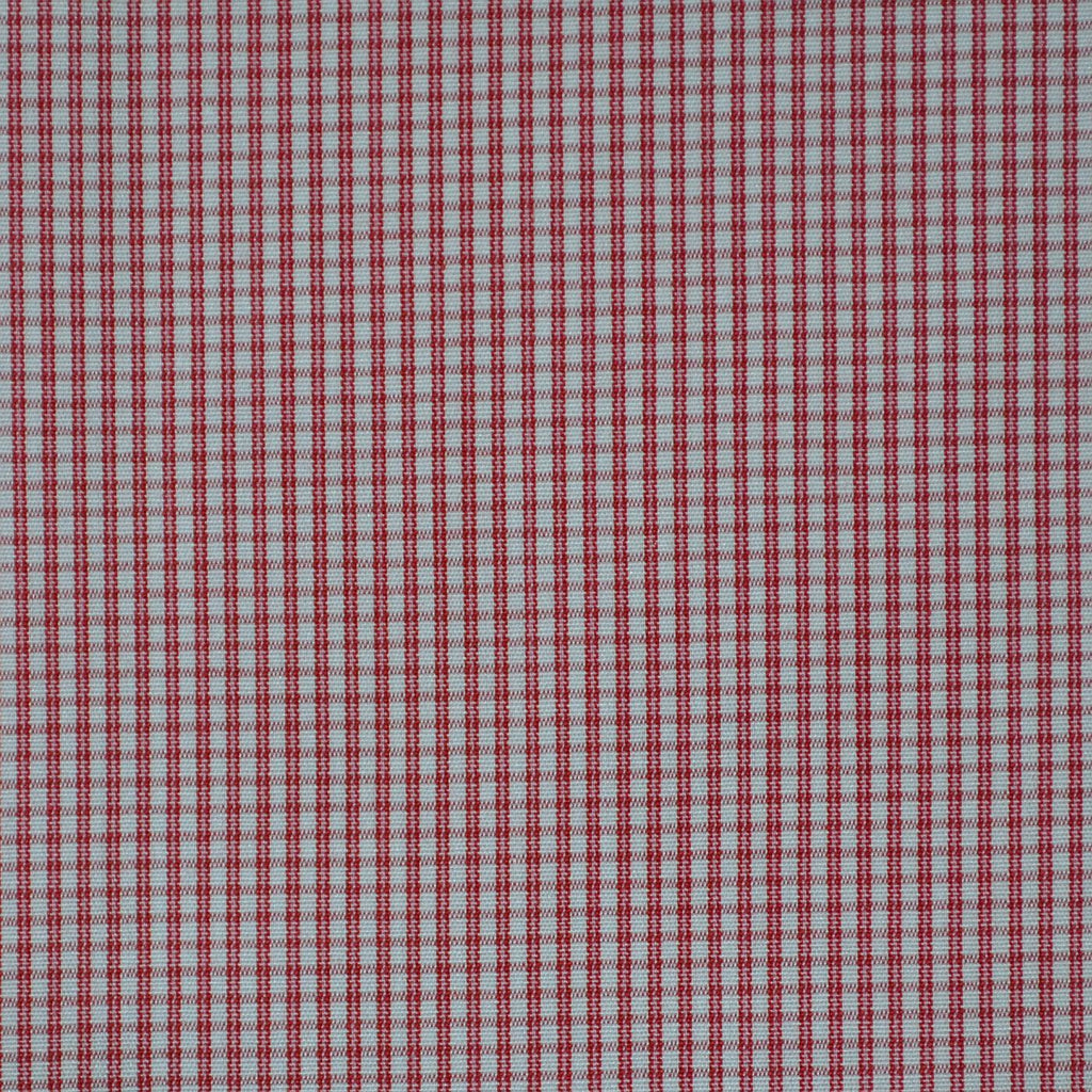 White with Red Check Cotton Shirting