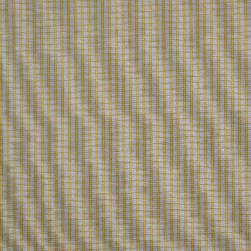 White with Yellow Check Cotton Shirting
