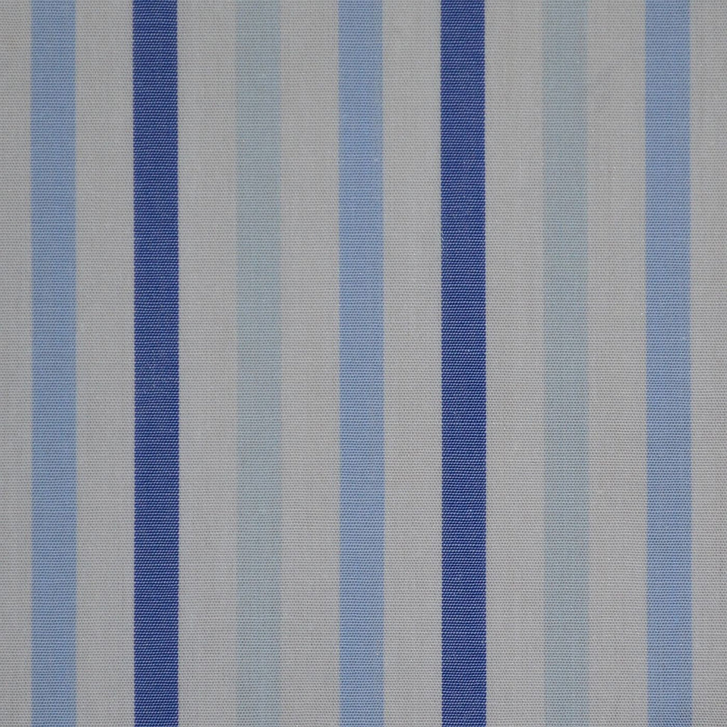 White with Blue Stripe Cotton Shirting