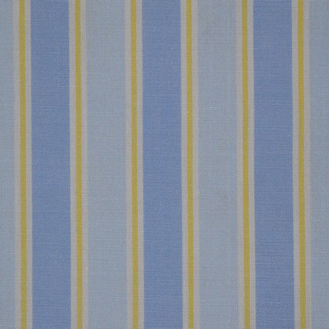 Blue with Yellow Stripe Cotton Shirting