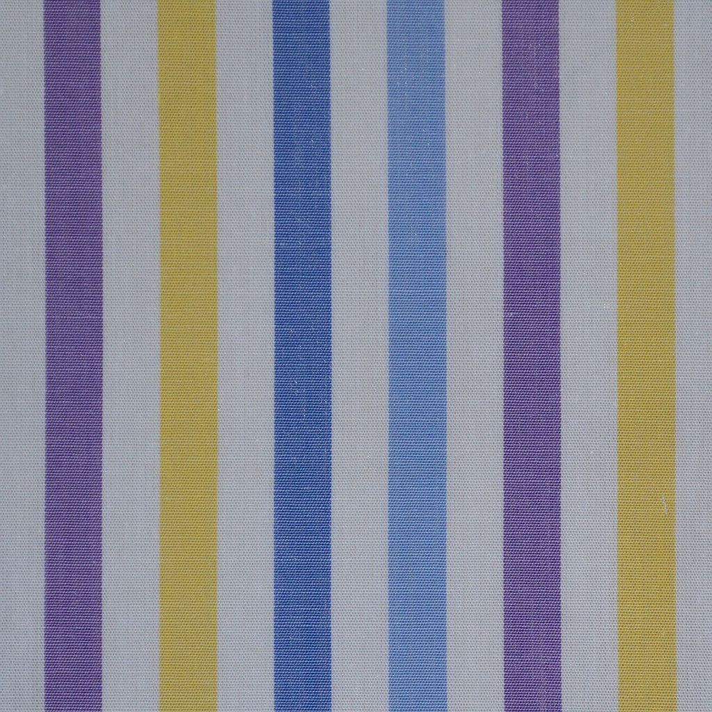 White with Yellow & Purple Stripe Cotton Shirting
