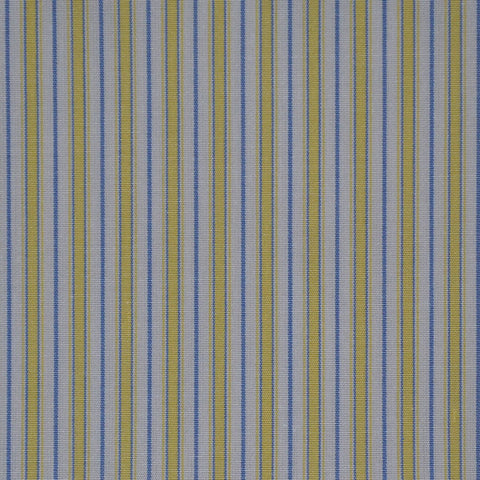 Yellow, White & Blue Cotton Shirting