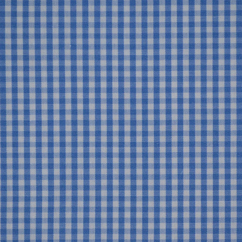 Light Blue & White Gingham Check Cotton Shirting