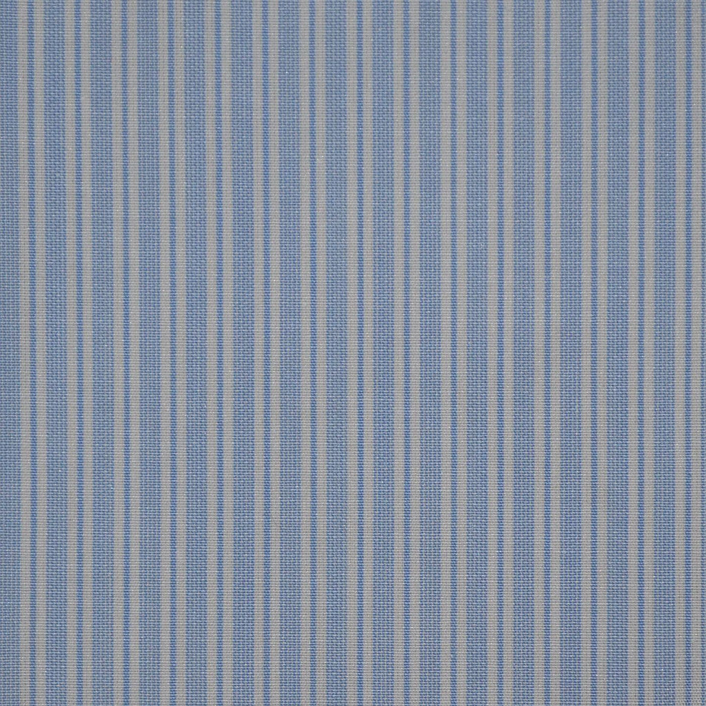 Blue with White Stripe Cotton Shirting