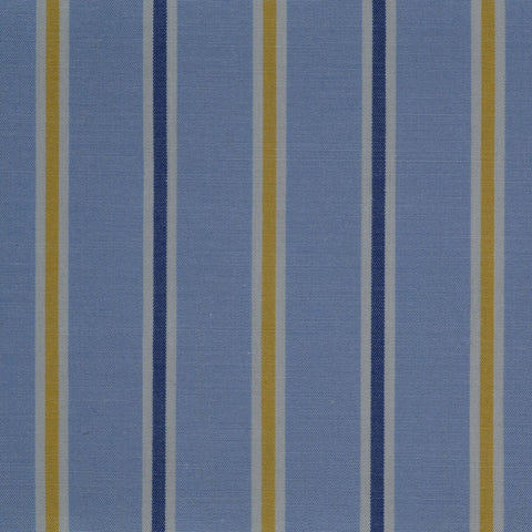 Blue with Dark Blue & Yellow Stripe Cotton Shirting