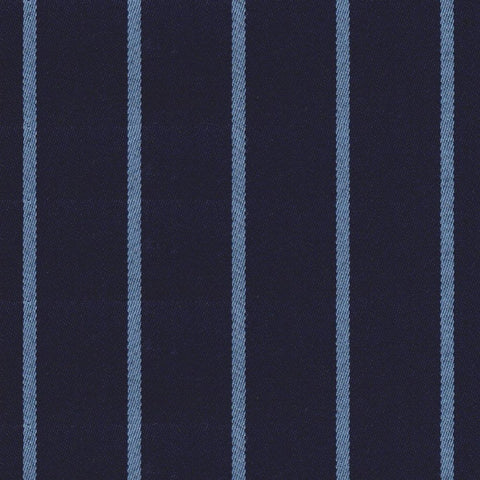 Navy Blue & Light Blue Blazer Stripe Jacketing