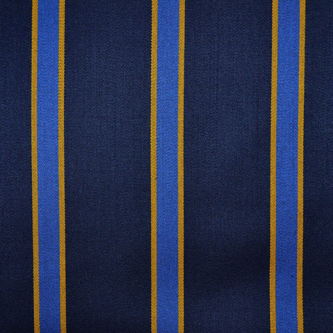 Navy Blue, Royal Blue & Yellow Blazer Stripe Jacketing