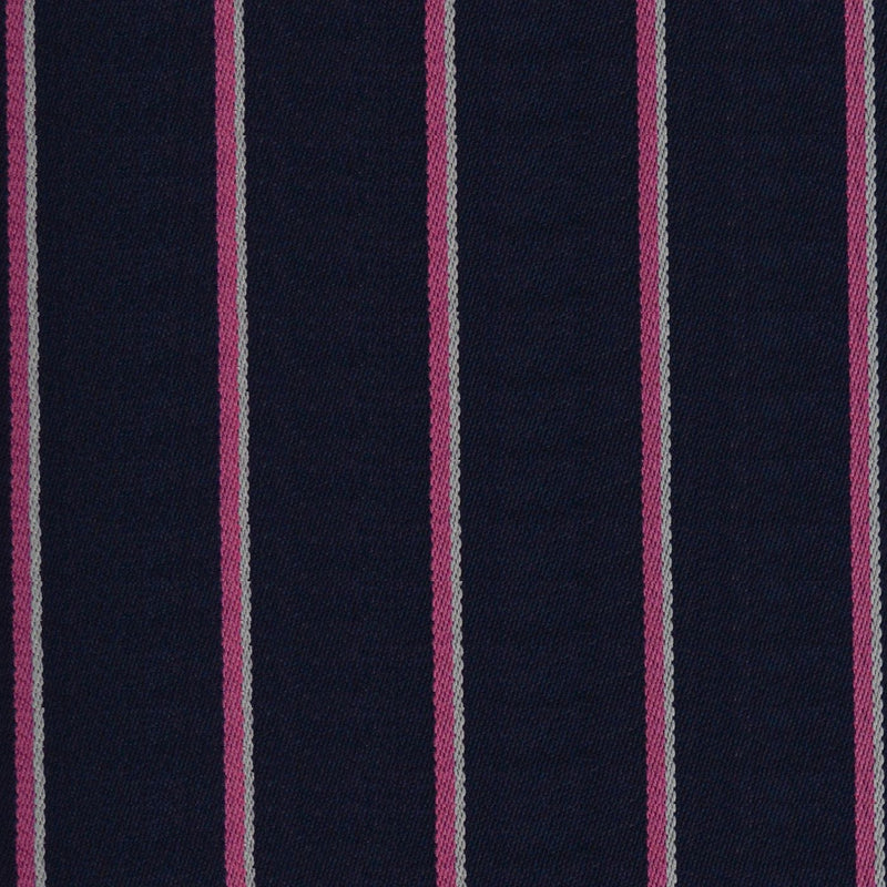 Navy Blue, Pink & White Blazer Stripe Jacketing
