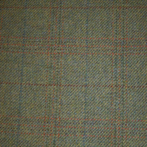 Moss Green with Green & Orange Triple Check Tweed