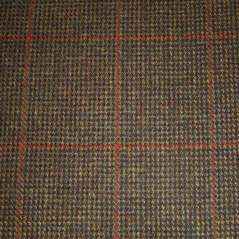 Brown & Green with Orange Check Tweed