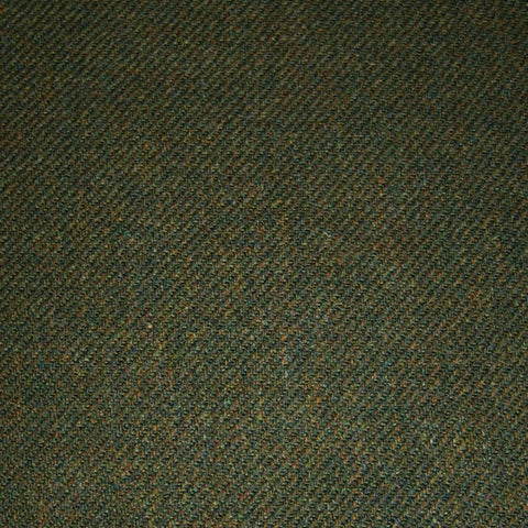 Green & Brown Plain Tweed