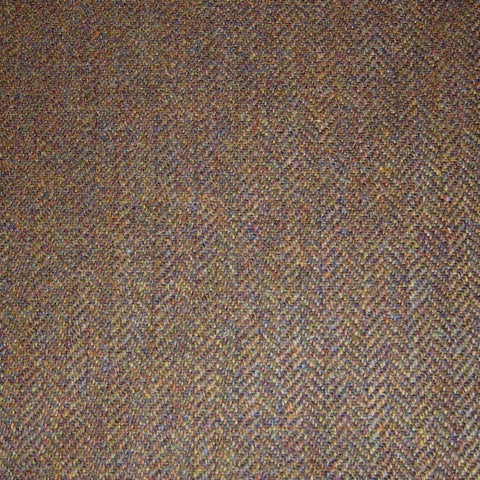 Medium Brown Herringbone Tweed