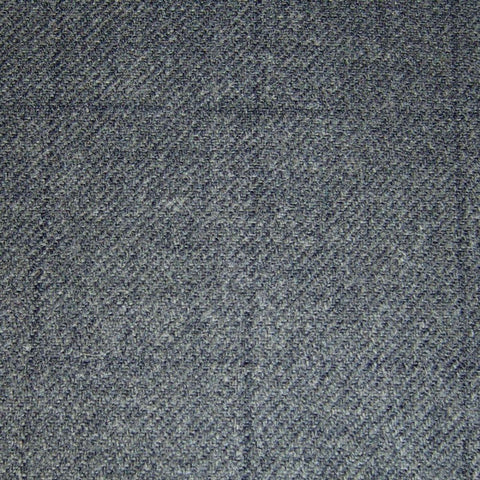 Medium Grey with Dark Grey Muted Check Tweed