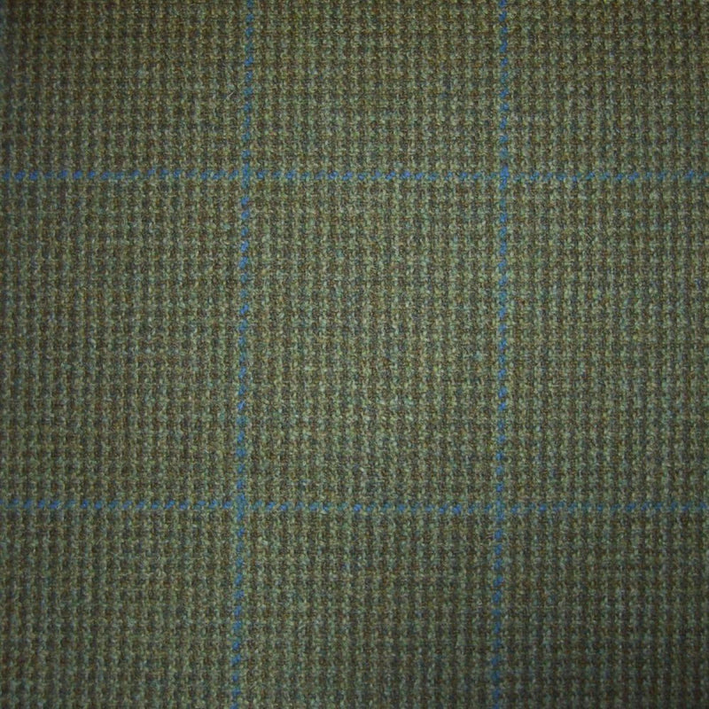 Green with Blue Check Tweed