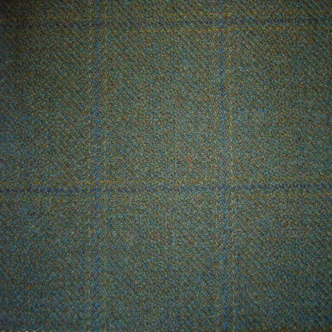 Green & Blue Herringbone with Navy Blue & Sand Check Tweed