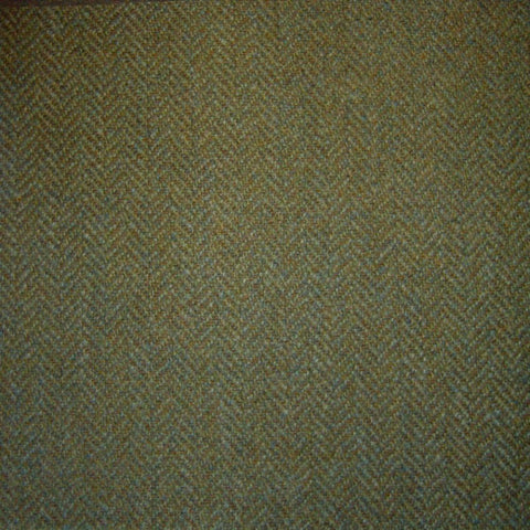 Light Green & Brown Herringbone Tweed