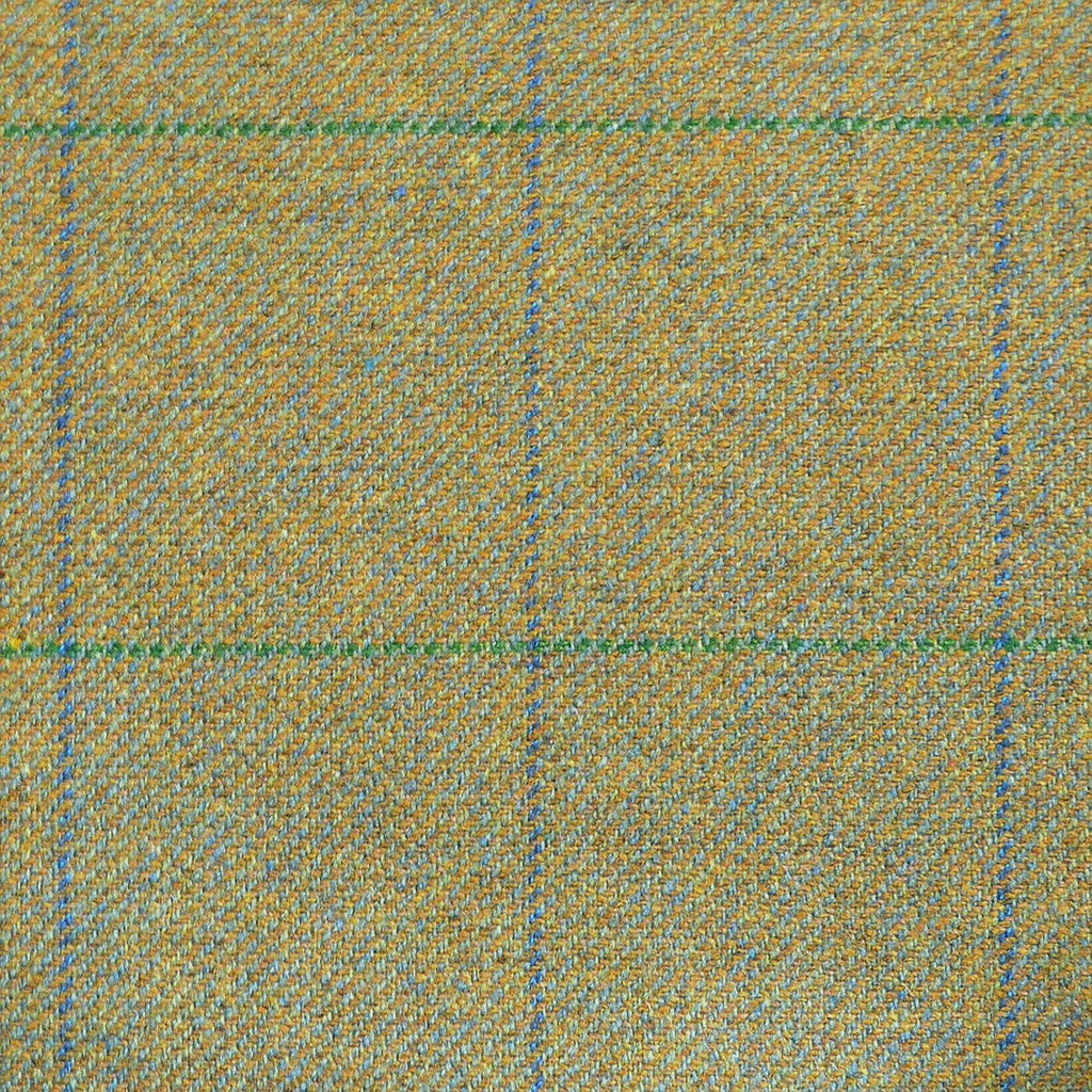 Green & Blue with Green & Blue Check Tweed