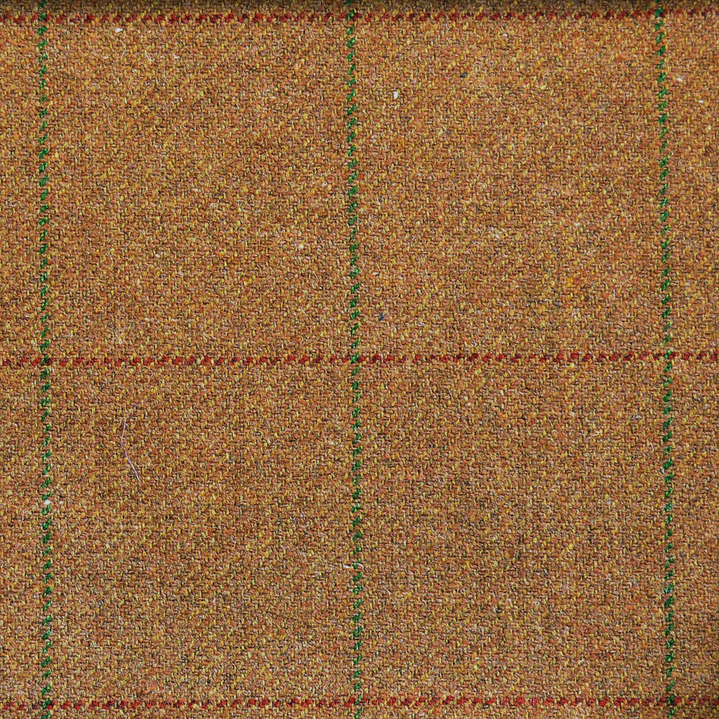 Medium Brown with Green & Red Check Tweed