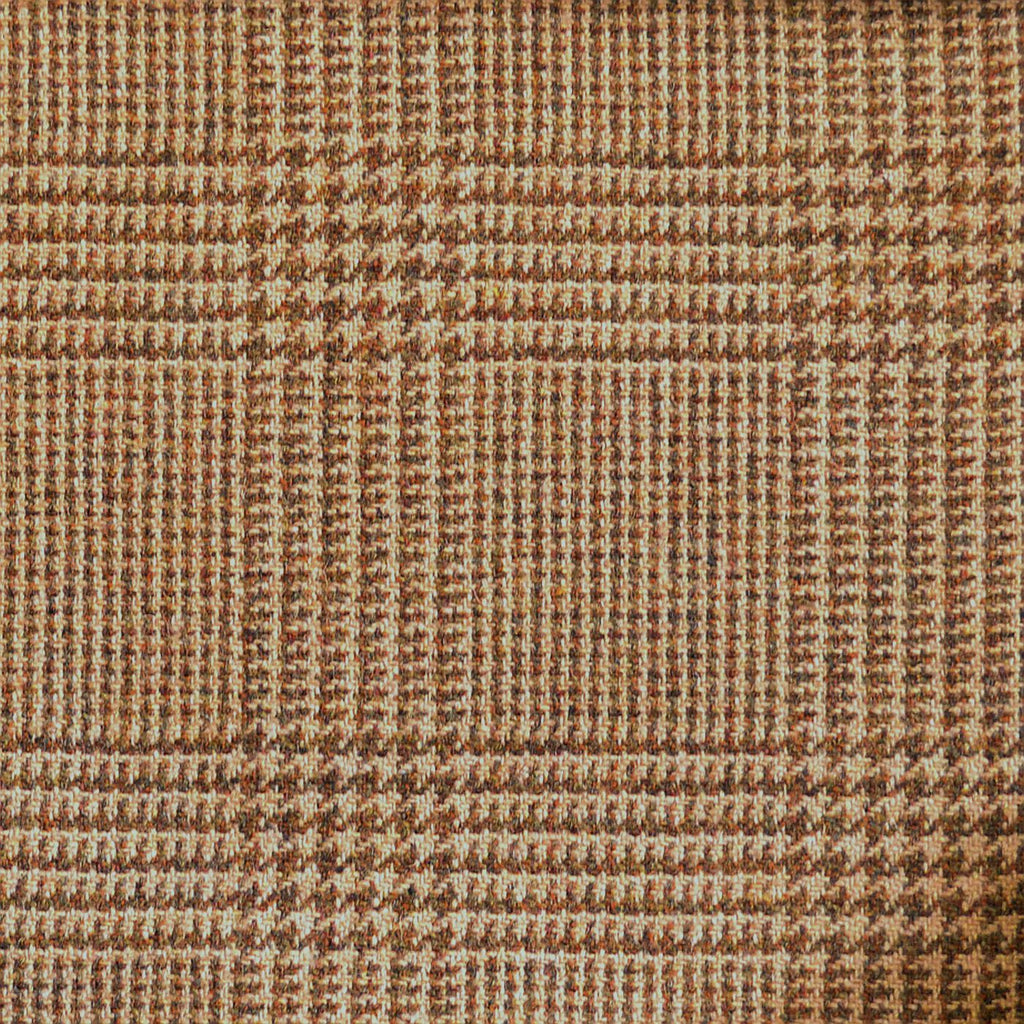 Beige & Brown Check Tweed
