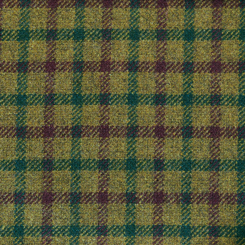 Moss Green with Wine & Dark Green Check Tweed