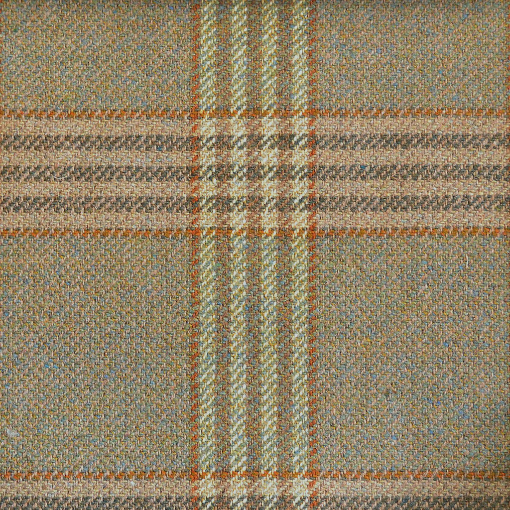 Green & Brown with Brown & Quad Check Tweed