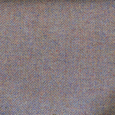 Beige & Brown Herringbone Tweed