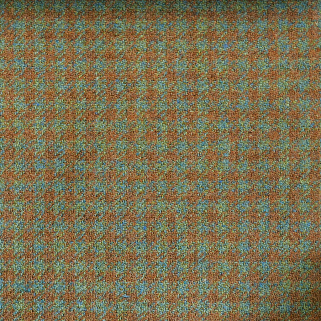 Blue, Green & Brown Check Tweed