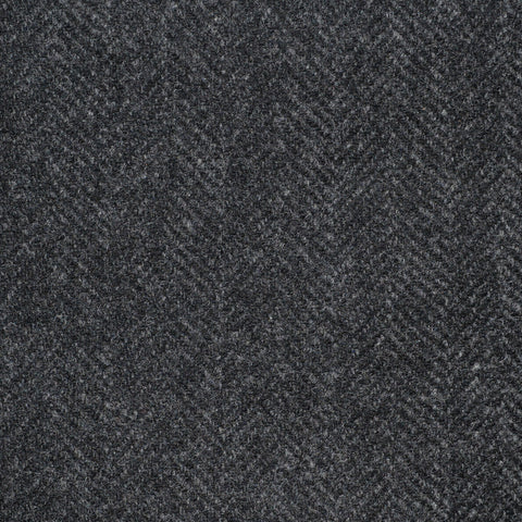 Dark Grey Herringbone Cashmere Jacketing