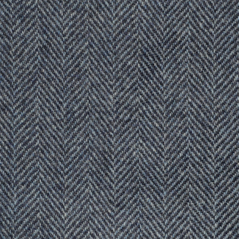 Steel Blue Herringbone Cashmere Jacketing