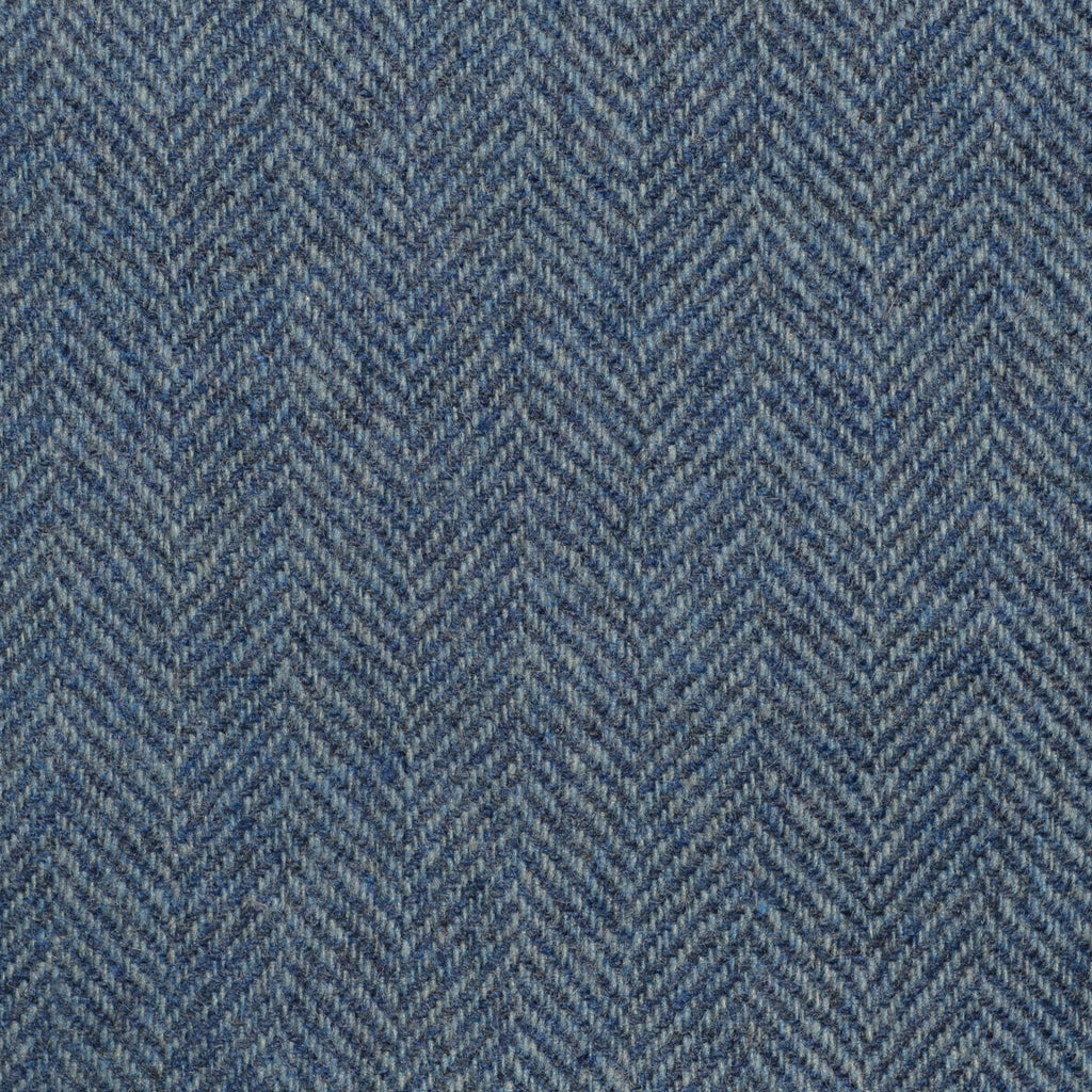 Light Blue Herringbone Cashmere Jacketing