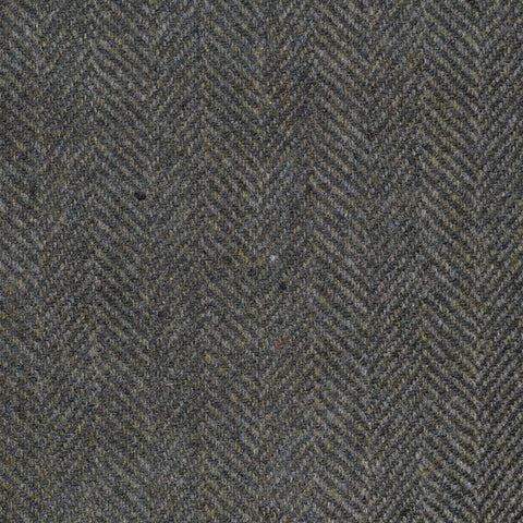 Forest Green Herringbone Cashmere Jacketing