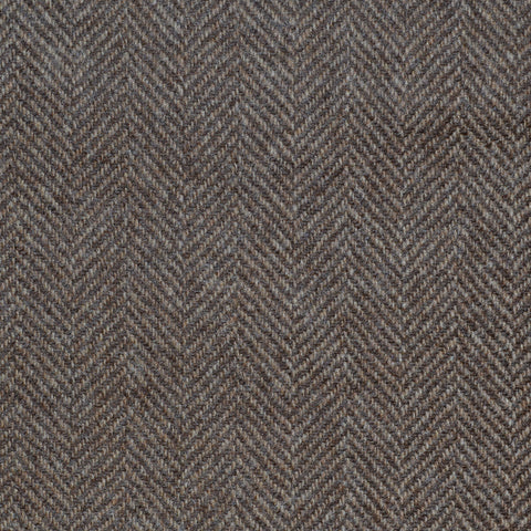 Medium Brown Herringbone Cashmere Jacketing