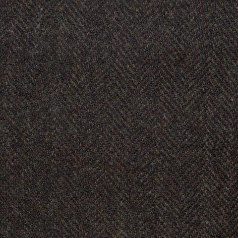 Dark Brown Herringbone Cashmere Jacketing