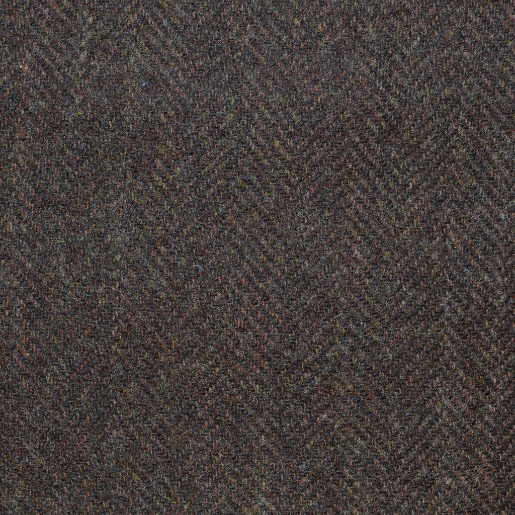 Chocolate Brown Herringbone Cashmere Jacketing