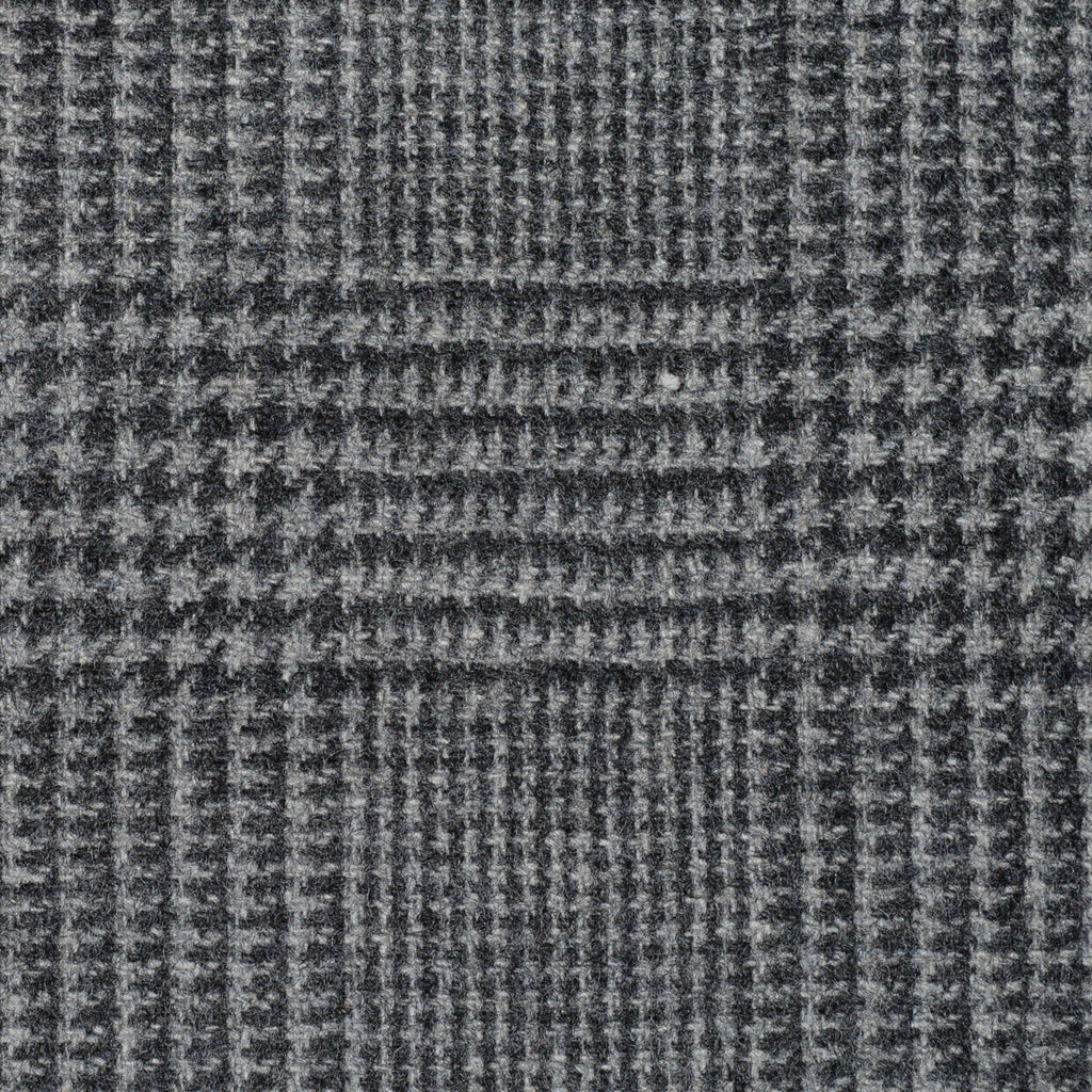 Medium Grey Prince of Wales Check Cashmere Jacketing