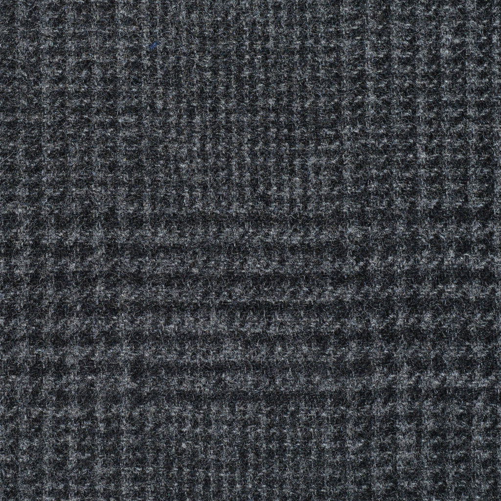 Dark Grey Prince of Wales Check Cashmere Jacketing