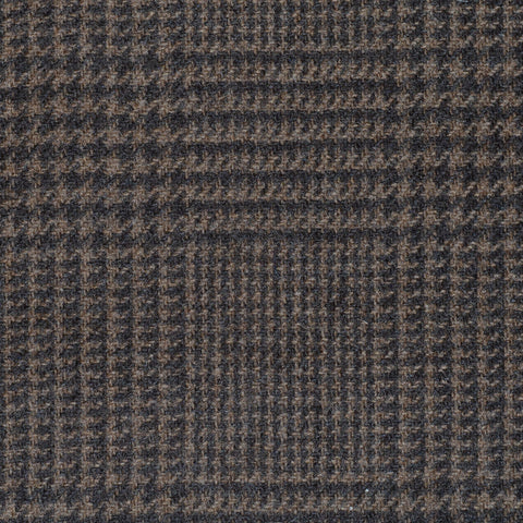 Medium Brown Prince of Wales Check Cashmere Jacketing