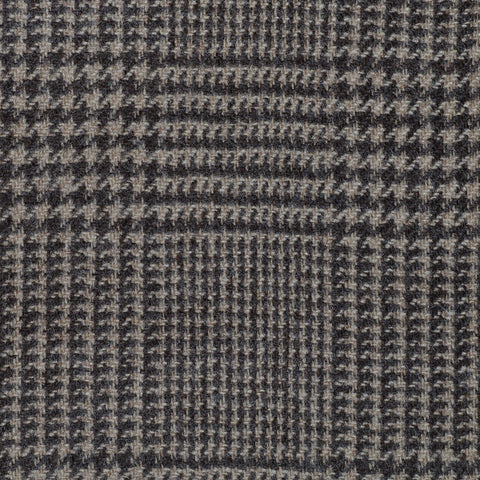 Light Brown Prince of Wales Check Cashmere Jacketing