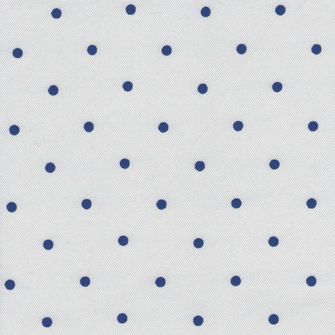 White with Blue Spot Lining