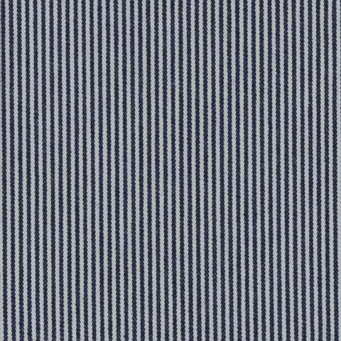 Denim Blue and White Candy Stripe Cotton Denim