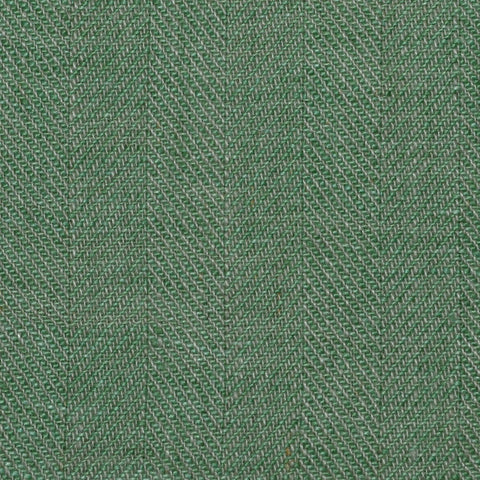 Green Herringbone Linen