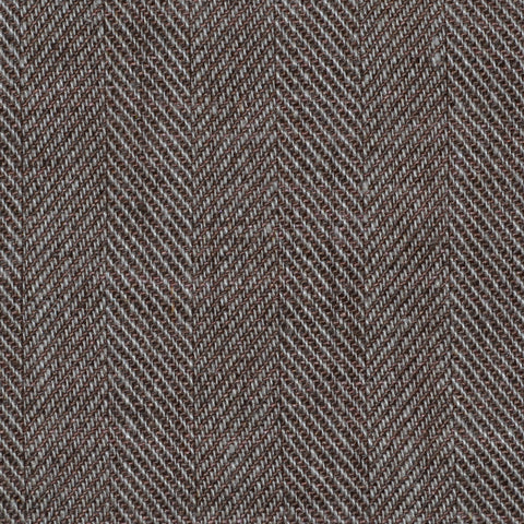Muted Brown Herringbone Linen