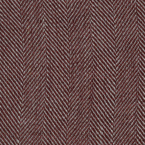 Brown Herringbone Linen
