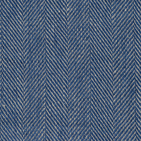 Blue Herringbone Linen