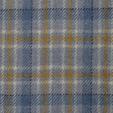 Grey, Blue, Mustard & White Multi Check Holland & Sherry Jacketing