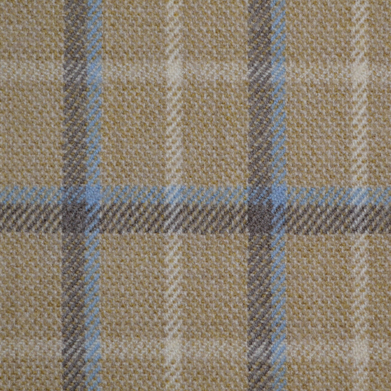 Beige, Light Blue & Brown & Multi Check Holland & Sherry Jacketing
