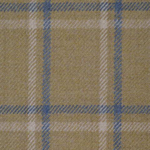 Beige, Blue & White & Multi Check Holland & Sherry Jacketing
