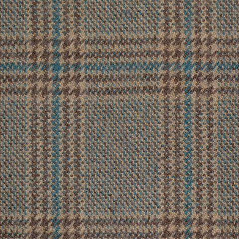 Brown, Beige & Green Multi Check Holland & Sherry Jacketing