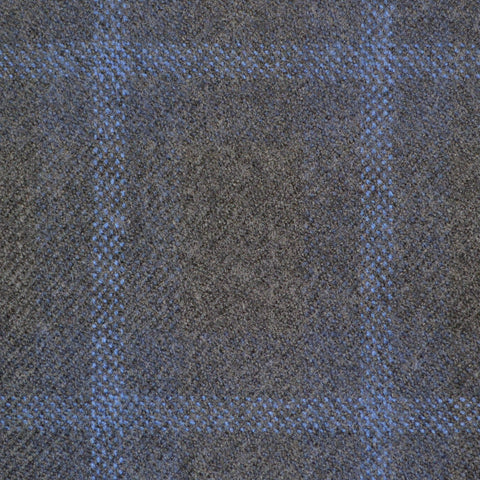 Grey & Blue Multi Check Holland & Sherry Jacketing