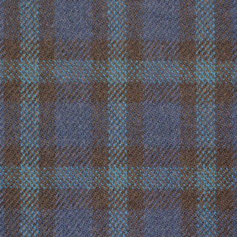 Blue, Black & Green Multi Check Holland & Sherry Jacketing